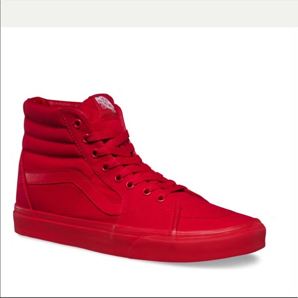 Vans Shoes | Vans Sk8hi Mono Canvas Red